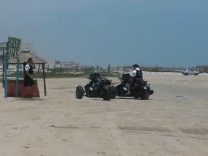 La Gendarmería patrulla mayormente en la playa