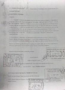 Denuncia presentada en Contraloría Muicipal