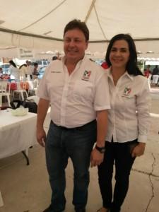 Sergio Villarreal Bricston y Mónica Villarreal.