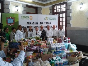 0112- Donación de víveres en Tampico a pacientes de tuberculosis