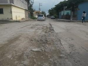 Vista de la calle Ocampo, Col. Emilio Carranza