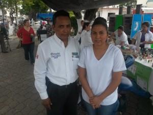 Regidor Francisco Castañeda y Diana Tirstán