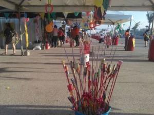2612- Puestos de cohetones en playa de MAdero