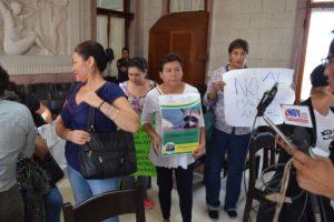 Los manifestantes entraron a la Sesión de Cabildo