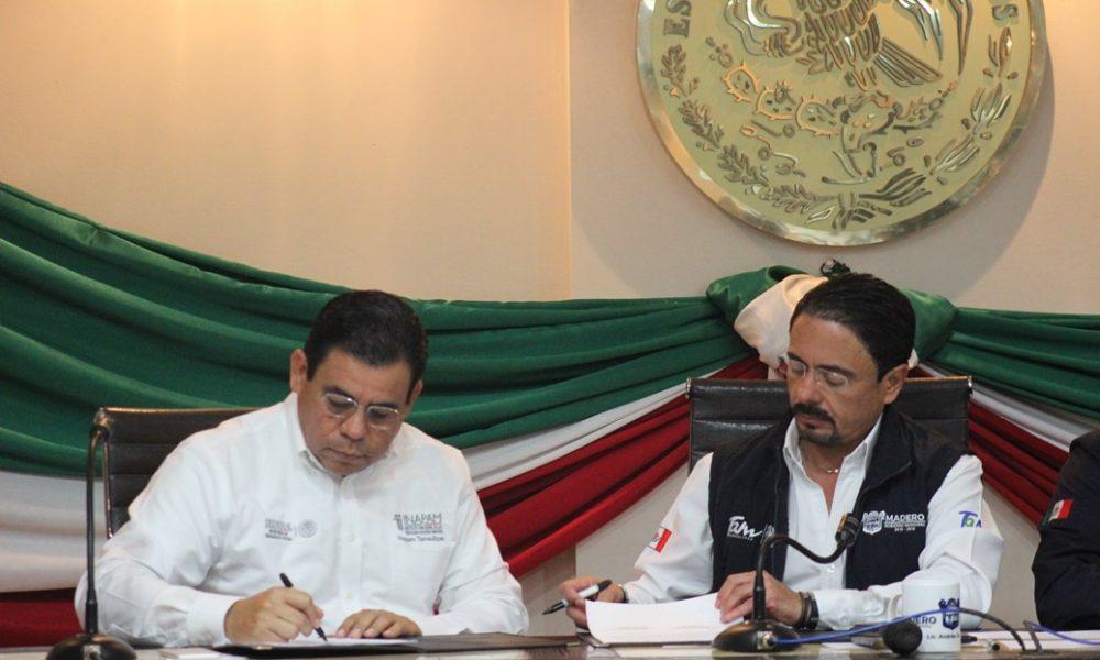 Inapam y ciudad madero firman convenio reporte noreste for Fuera de convenio 2017